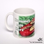 Mobile Preview: lustige Tasse Hummel mit Herz Links