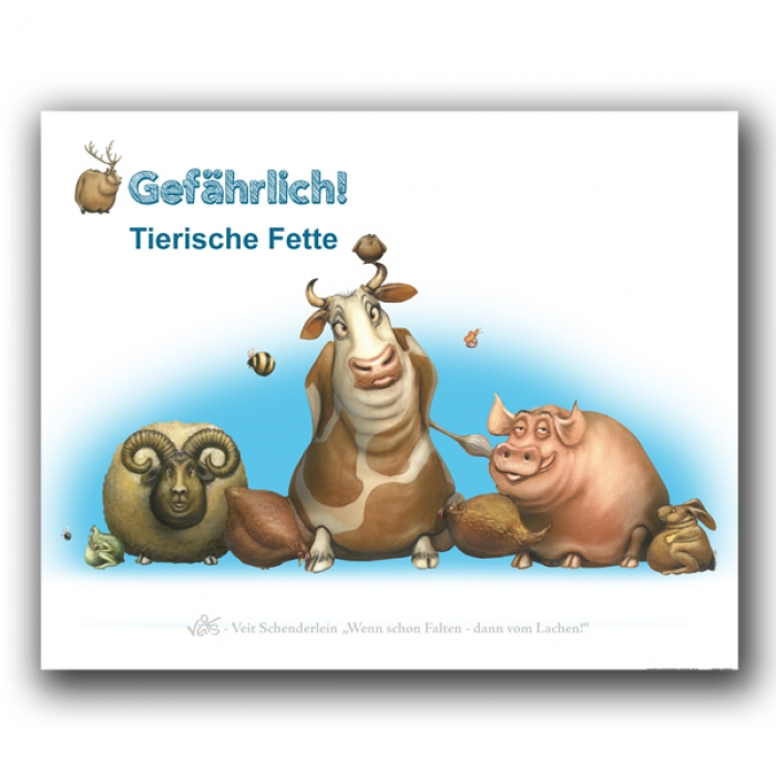 B0236 Karikatur/Cartoon - Tierische Fette