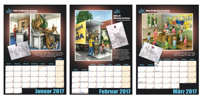 VeitS Cartoon Kalender 2017 1. Quartal