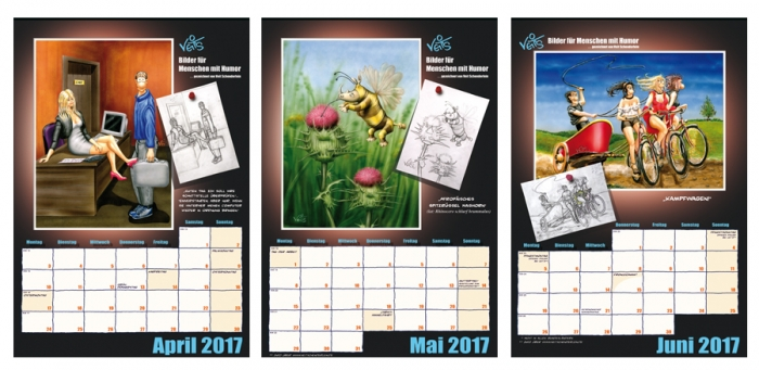 VeitS Cartoon Kalender 2017 2. Quartal