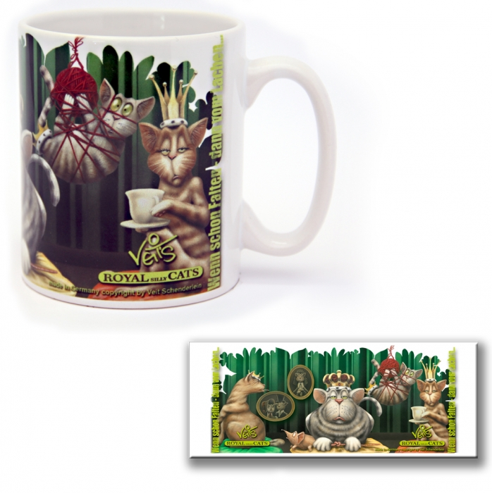 TB0272 Lustige Tasse Veit`S Royal Silly Cats