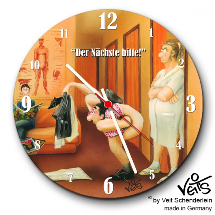 lustige Wanduhr Physiotherapie