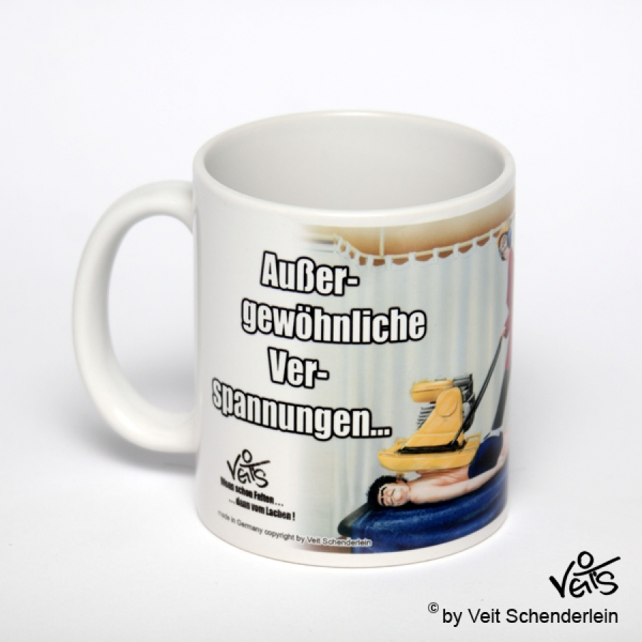 lustige Tasse Physiotherapie Verspannungen Links