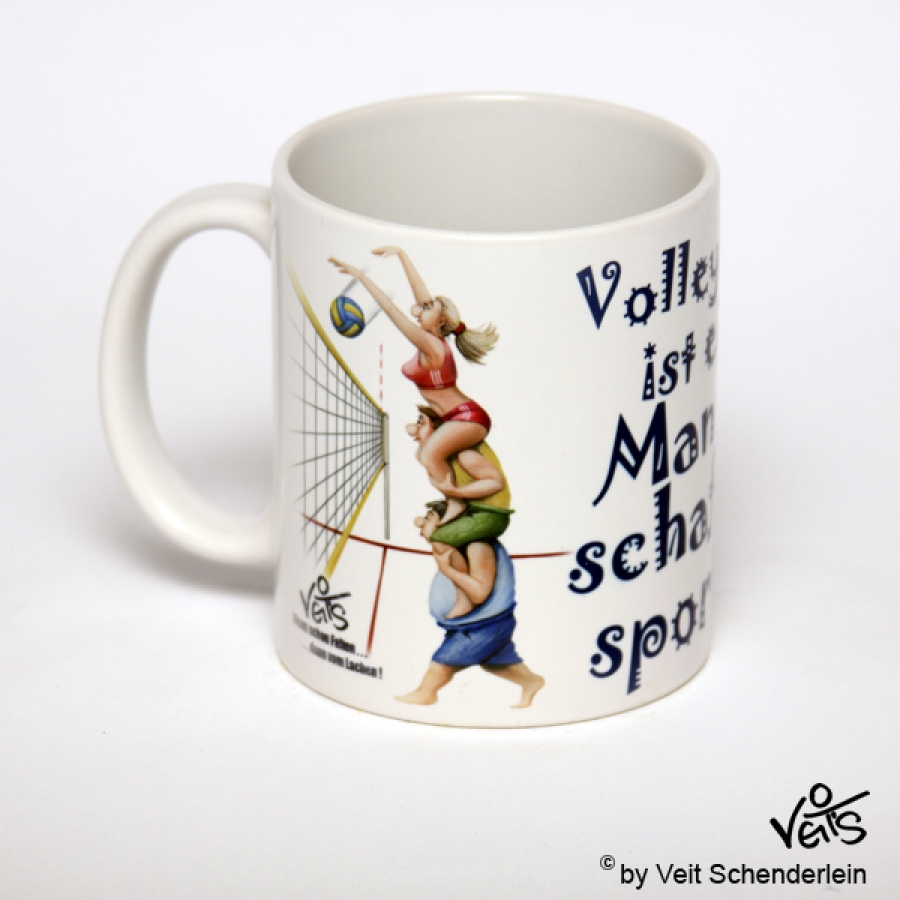 lustige Tasse Volleyball Links